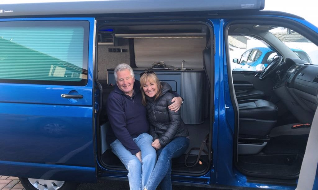 Duncan-and-Johanna-receiving-with-their-newly-converted-volkswagen-transporter-t5-conversion