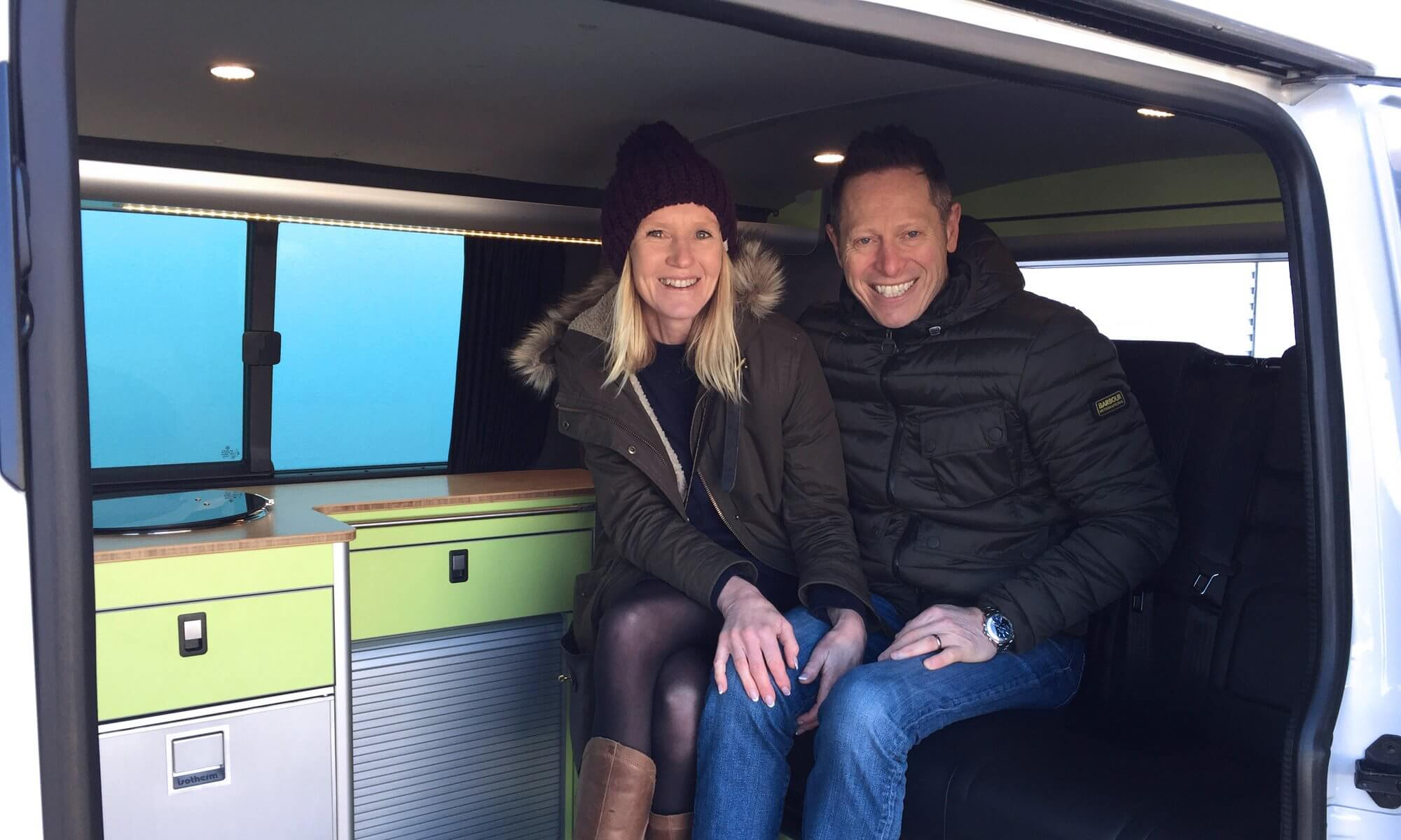 Sarah-and-clive-collecting-their-newly-converted-vw-t6-sportline-camper-conversion