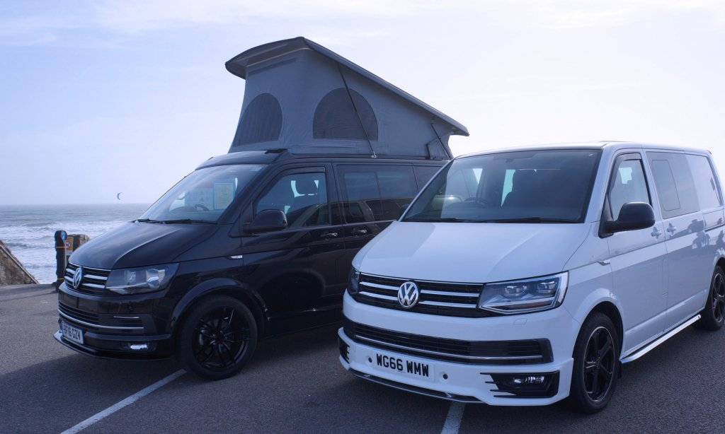 black-and-white-vw-t6-transporters