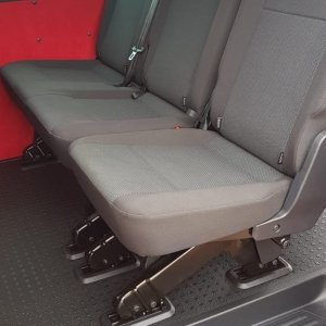 VW T6 kombi rear seats in simora cloth