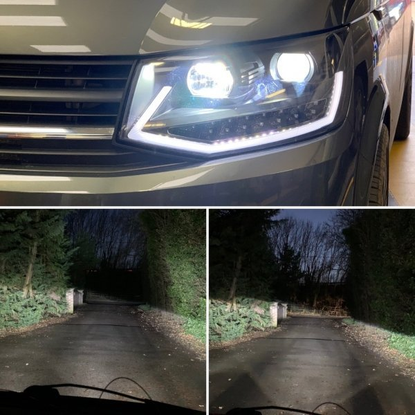 led upgrade h1 and h11 packaged for vw t5 t6